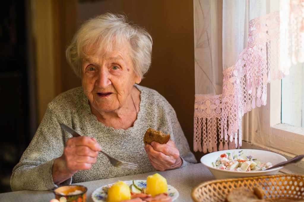 elderly care food and meal times